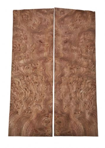 "Elm burr veneer - set of 2 leafs: 22"" x 6.5"" ( 56 x 17 cm )"